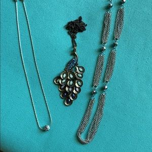 Bundle of 3 stunning costume jewelry necklaces